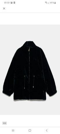 kurtka Zara 36 s futerko