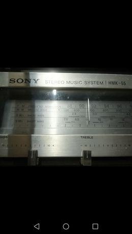 Gira discos Sony hmk 55 + cerca de 50 cd vinyl+ caixa com cassetes