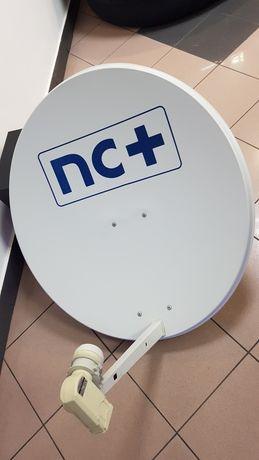 Talerz satelitarny nc+ z konwerterem na 4 telewizory, sztyca