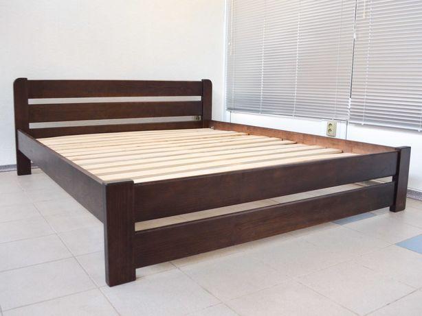 Деревянная двуспальная кровать 160х200  Усиленная