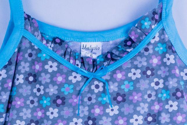 Piżama bawełniana, Koszula nocna, komplet damski do spania Rozmiar S
