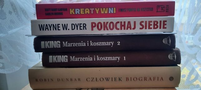 Książki cena od 7 zł / King, Palachniuk. Madonna, Dunbar, Woody Allen