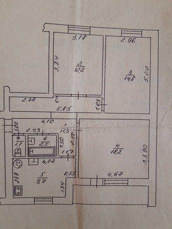 продам 3 х кімн квартиру вул Потебні  з автономним опаленням