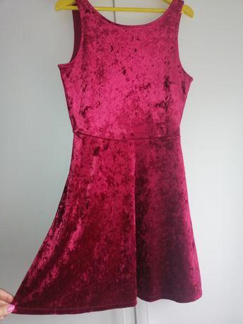 Велюровое платье H&M Divided XS-M