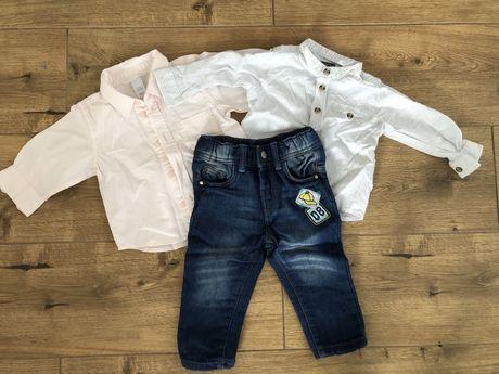 Set koszule i jeansy dzieciece H&M i COOL CLUB. Rozmiar 68-74