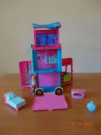 Polly Pocket -autobus, domek + akcesoria i laleczka