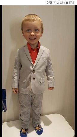 Komplet marynarka koszula spodnie dla chłopca
