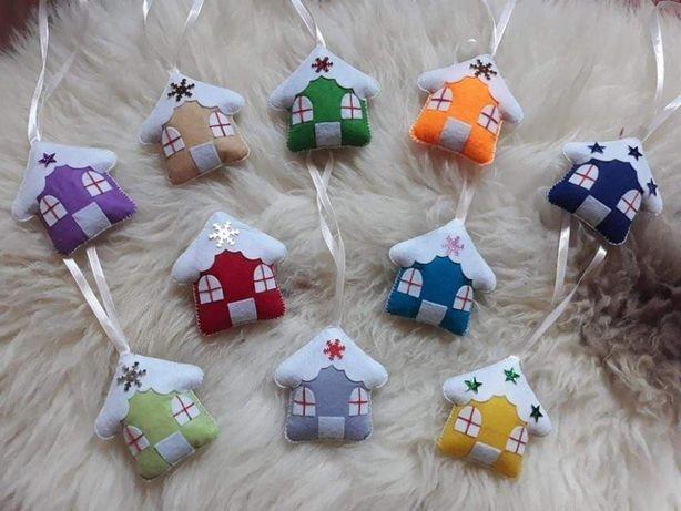 Filcowe zabawki na choinkę dekoracje ozdoby hand made rękodzieło