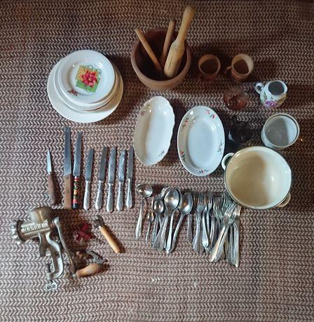 Набор посуды б,у  ложки-вилки нержавеющая сталь!