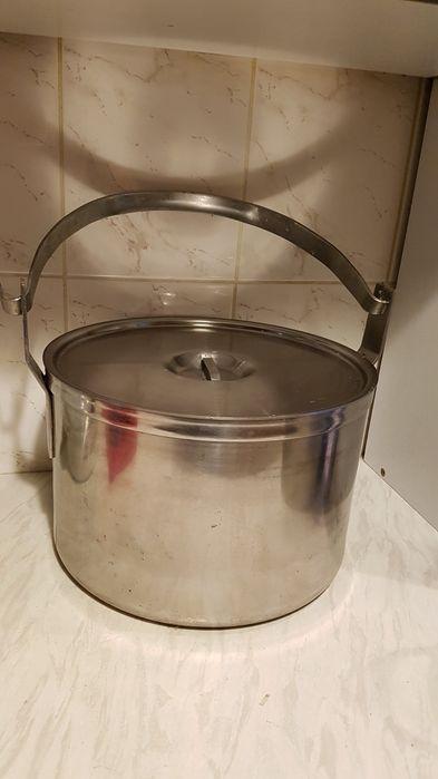 Garnek duzy srebrny ciężki porządny sprzedam Rumia - image 1
