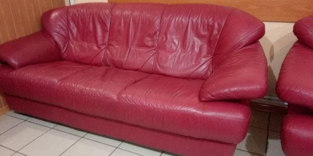 Комплект мягкой мебель из кожи