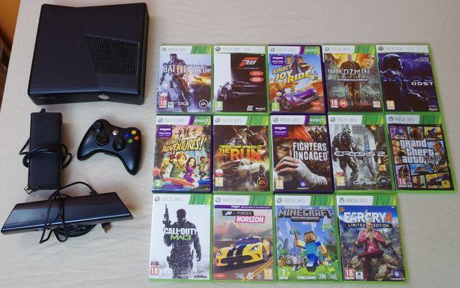 Xbox 360, kinect, pad + 14 GIER
