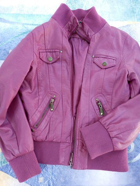 Куртка девочке кожзам