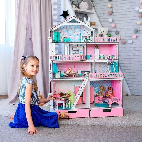 Кукольный домик NestWood модный Большой особняк для кукол ЛОЛ дом LOL