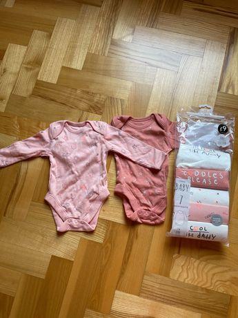 Набор боди для девочки 7 шт. Размер 3-6 месяцев