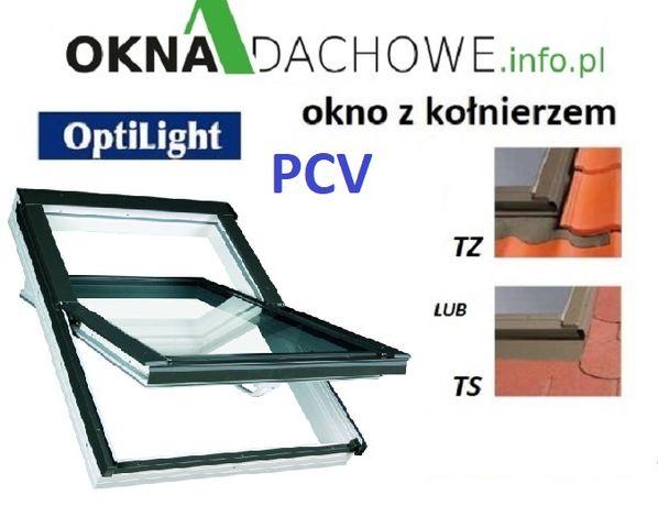 Okno okna dachowe PCV - OptiLight TLP 78x140 cm