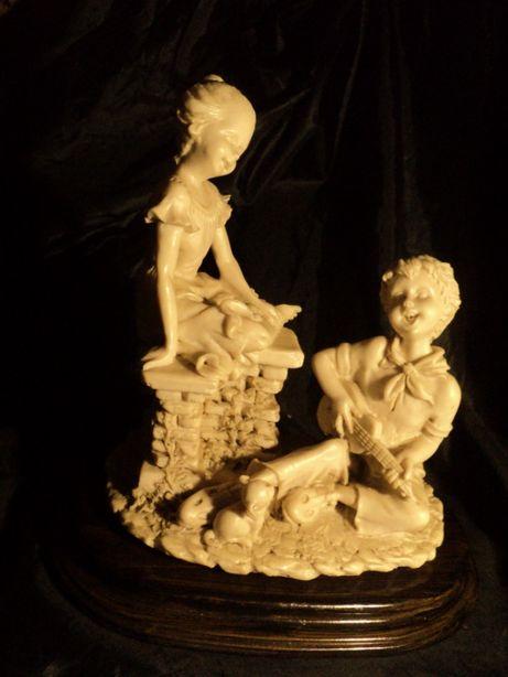 Статуэтка фарфоровая 25см из Франции антиквариат старина бисквит керам
