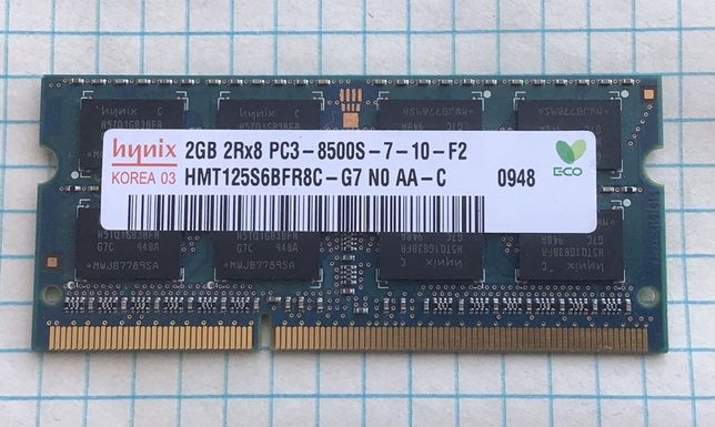 Оперативная Память DDR 3 2Гб. Для ноутбука