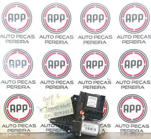 Motor elevador vidro Vw Golf 6 frente esquerdo referência 5K0959701C, 5K0959793A.