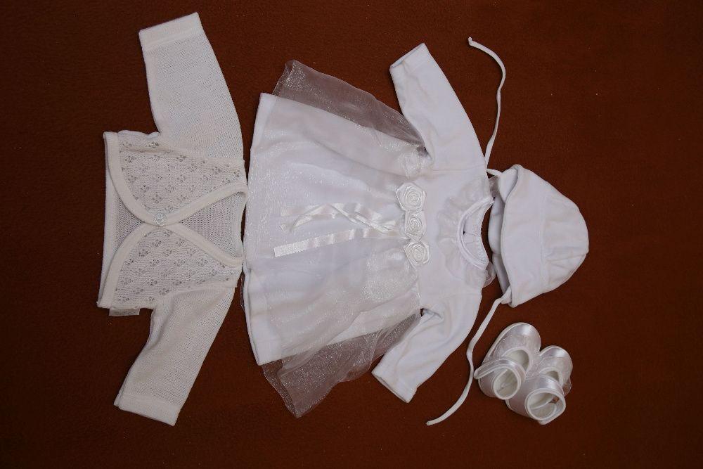 ubranko na chrzest dla dziewczynki rozm.62 Skoczów - image 1