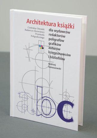 Architektura książki. Składanie tekstu, łamanie książki, Tomaszewski