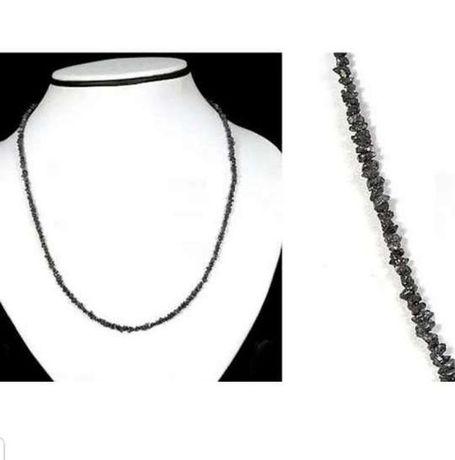 Колье , леска 2-3.5 mm черный бриллиант . длина 48 см