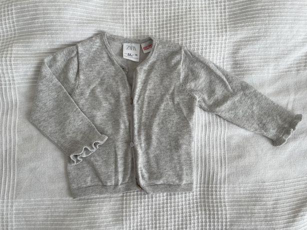 Sweterek rozpinany szary Zara 74