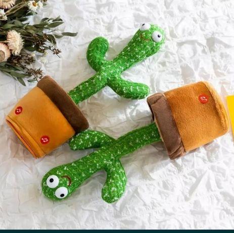 Плюшевый,танцующий кактус слово повторяющий веселая игрушка для детей!
