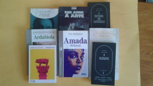 Vários livros de: Italo Calvino George Orwell, Oscar Wilde, etc
