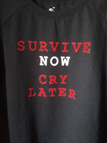 Nowa bluzka koszulka na długi rękaw | Sinsay | Survive now Cry later