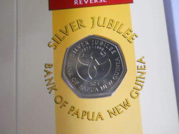 Папуа Новая Гвинея-50 тоа (1998) '25 лет банку Гвинеи' UNC