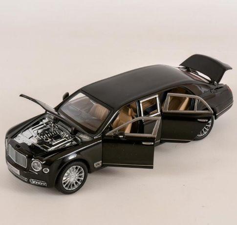 Игрушечная машинка металлическая Бентли черного цвета