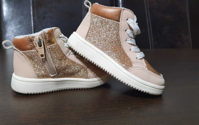 Złote buciki H&M
