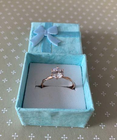Srebrny pierścionek srebro 925, kolor różowe złoto