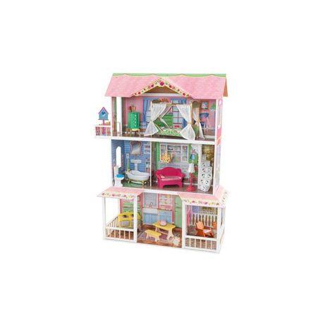 Drewniany domek dla lalek Sweet Savannah, Kidkraft + 5 Barbie gratis