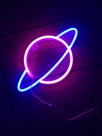 Planeta LED neon lampa, lampka dla dzieci