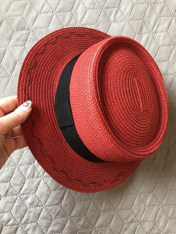 Новая женская красная шляпа канотье onesize