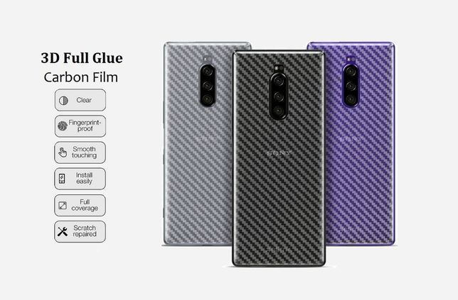 Карбоновая пленка Sony Xperia 1 10 XA1 XA2 Plus Ultra XZ1 XZ2 Compact