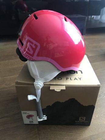 Nowy kask narciarski Salomon GROM Glosy Pink