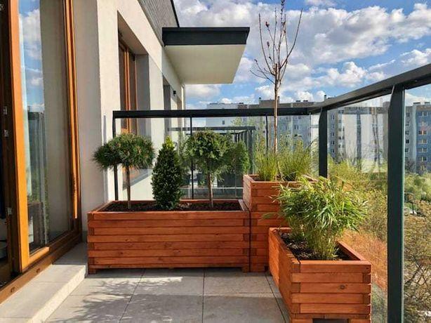 Donice drewniane ogrodowe, kwietnik, skrzynia ogrodowa, donica