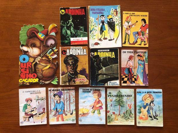 Brinquedo 12 antigos livros infantis e de bolso