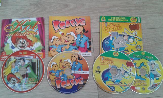 Bajki CD dla dzieci najmłodszych chłopięce komplet zestaw 4szt