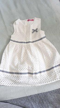 Biala sukienka dla dziewczynki