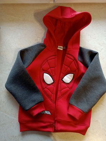 Cool Club, Bluza chłopięca z kapturem, czerwono-szara, Spider-Man