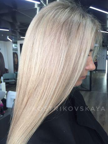 Окрашивание волос, стрижки. Покраска волос.Блонд, балаяж, шатуш.