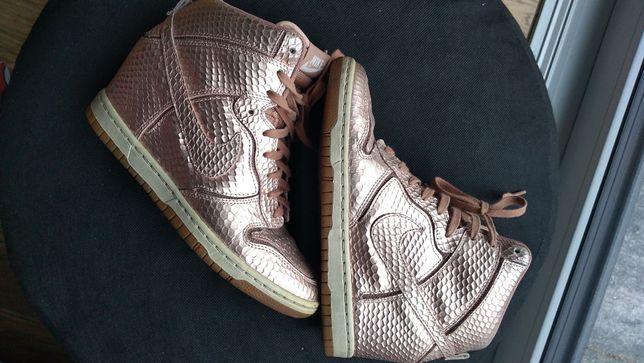koturny sneakersy NIKE rozm.37,5 różowe złoto