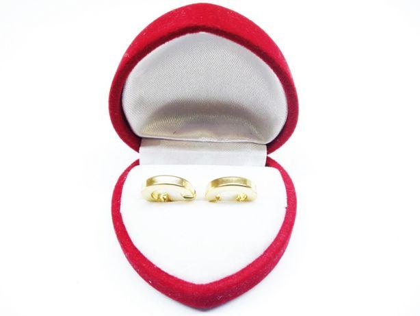 Złote kolczyki płaskie koła p.585 1,99g