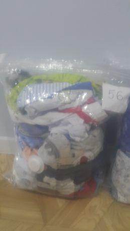 Paczka zestaw komplet ciuszków ubrań dla chłopca 56 62 68