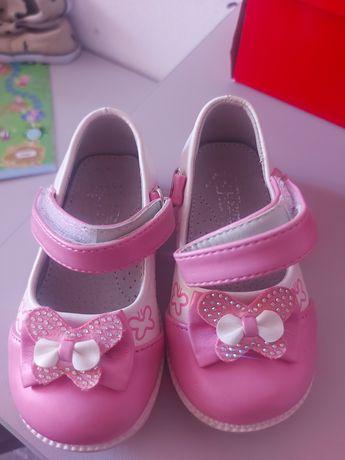 Туфельки девочке туфли ТОМ размер 22 кожаные с ортопедической стелько