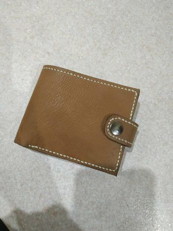 Шкіряний чоловічий гаманець портмоне ручної роботи. Безкошт доставка